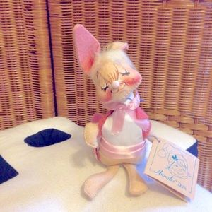 Vintage Annalee Easter bunny doll USA made NWT